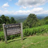 Great Valley overlook sign, Блу-Ридж