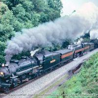 NKP 587 + N&W 611 & 1218 - Blue Ridge, VA, Блу-Ридж