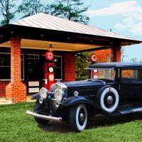 Old Filling Station in Glen Allen, VA, Глен-Аллен