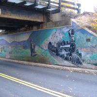 Railroad bridge over Crozet Ave in Crozet, Virginia, Крозет