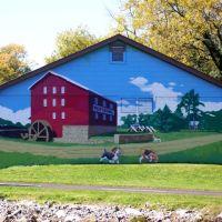 Willow Grove Mill Mural, Luray, VA; Oct. 2011, Лурэй