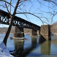 RR Bridge Across The New River, Radford Virginia, Радфорд