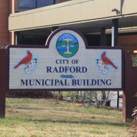 Radford City Courthouse Sign (Radford, Virginia), Радфорд