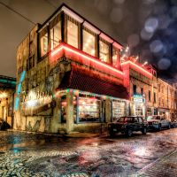 Havana 59 in the Rain Wish I could say it was Havana Cuba but it is in the rain which added a lot of shine and dimension to this five exposure HDR night image. f/8.0, FL 10 mm, ISO 800. Richmond Virginia, Ричмонд