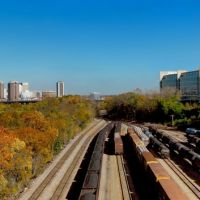 City Skyline, River and Coal Trains - Richmond VA., Ричмонд