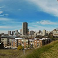 City Skyline From Jefferson Park - Richmond, VA., Ричмонд
