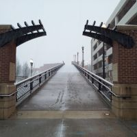 1st street bridge Blizzard in Roanoke, Роанок