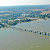 TMSP - Old Wharf and Pipeline Jetty aerial view - Tappahannock on the Rappahannock River, Таппаханнок