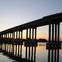 Downing Bridge over the Rappahannock River, Tappahannock, Virginia, Таппаханнок