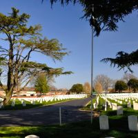 VIRGINIA: HAMPTON: PHOEBUS: view to the east from within Hampton National Cemetery, Phoebus Addition, West County Street, Хэмптон