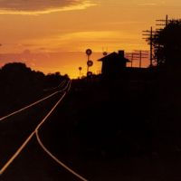Sunset on the rails at Junction Ciy, Wisconsin, Ваусау