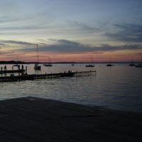 Atardecer en el embarcadero del Lago Mendota, Мадисон