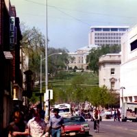 Late 70s, State Street and Bascom Hill, University of Wisconsin- Madison, Мадисон