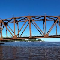 Lift Bridge over the Fox River in Oshkosh, Wisconsin, Ошкош