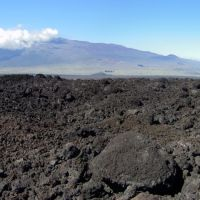 Another old lava flow from Mauna Loa with Mauna Kea in the distance, Канеоха