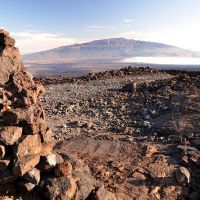 2011-10-06 The first Cairn right by the road while ascending Mauna Loa from the Weather Observatory., Канеоха