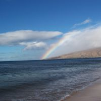 Rainbow over West Maui from Sugar Beach, Кихей