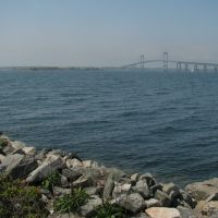 Newport Bridge from Goat Island, Ньюпорт