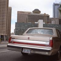 Car & skyline, Atlanta - 1989, Атланта