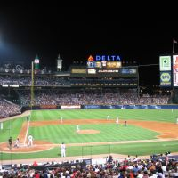 Sec 107 View at Night at Turner Field, Атланта