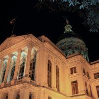 Georgia State Capitol at Night, Atlanta, Georgia, Атланта