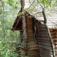 log slave shack, next to 1837 Murat plantation house, Tallahassee, Fla (3-16-2008), Аттапулгус