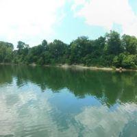 Reflection of Alabama from Georgia pier, Белведер Парк