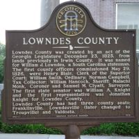 Lowndes County Historical Marker, Валдоста