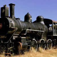 """ENGINE 119.  """"Elizabeth""""  Built for Houston & Texas Central Railroad in April 1892 by the Cooke Locomotive & Machine Company, Patterson, New Jersey.  When Doc Holliday left Georgia, he arrived in Dallas, Texas in September, 1873 aboard the Houston & Texas, Вестсайд"""