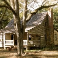John Fitz Jarrell built this plantation plain style house for his wife, Elizabeth and seven children.  It is typical in size and layout of many cotton plantation houses.  It is built of virgin heart pine., Вестсайд