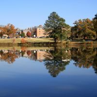 Wesleyan College - Dormitory & Lake, Macon, Georgia, Вестсайд