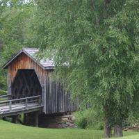 Twelve miles south of Thomaston,  is the only remaining covered bridge in Upson County, Georgia.  It was built in 1895 by Dr. J.W. Herring, a physician of considerable engineering ability who constructed similar bridges throughout the area.  The bridge sp, Вхигам