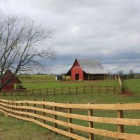 A beautiful old southern farm on a cloudy winters afternoon., Вхигам