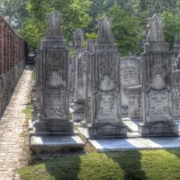 Oakland Cemetery: New Jewish section and Southern wall, Грешам Парк