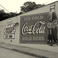 Dibujo mural de Coca-Cola., Грешам Парк