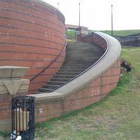Spiral staircase at Riverwalk, Колумбус