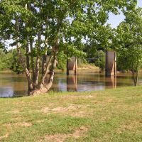 Hawkinsville Bridge over swollen Ocmulgee, Порт-Вентворт