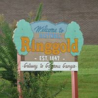 Welcome sign, Ringgold, Georgia, Рингголд