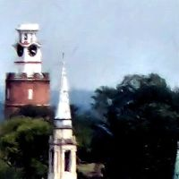 Rome Clocktower In Paint Format, Ром