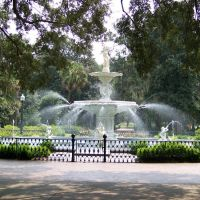Forsyth Park Fountain, Саванна