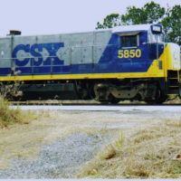 CSX 5850 at Thomasville Ga, Томасвилл