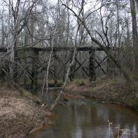 Abandoned old trestle deep in the woods., Форт Оглеторп