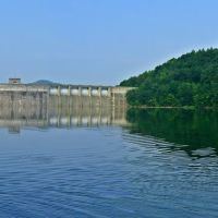 Upstream side of Sutton Dam, Sutton, WV, Барбурсвилл