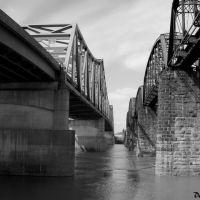 Old and New Bridges., Паркерсбург