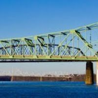 Bridge going to Belpre Ohio from Parkersburg Point Park 2012, Паркерсбург