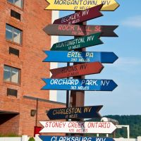 Distance Signs at Days Hotel, Flatwoods, WV, Файрмонт