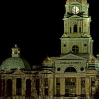 Cabell County Courthouse at Night, Хунтингтон