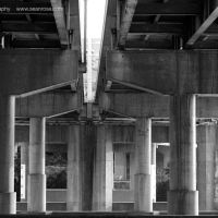 Under the Interstate 64 bridge, Charleston WV, Чарльстон