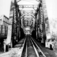 Railroad Bridge Circa 1989, Charleston WV, Чарльстон