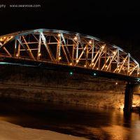 South Side Bridge at Night, Charleston, WV, Чарльстон